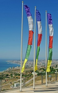 Spanish-Flags-over-Malaga